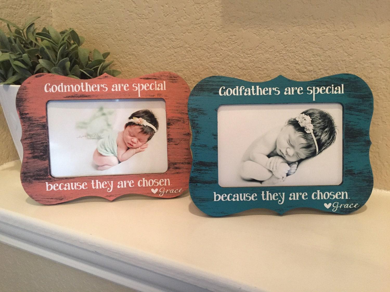 Godparent frame gift set of 2 frames for godmother godfather