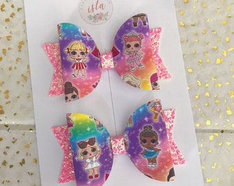 Medium lol doll hairbow bows clips