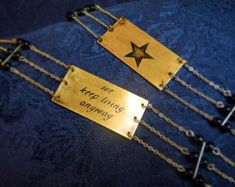 Hamilton-inspired Reversible Brass Bracelet