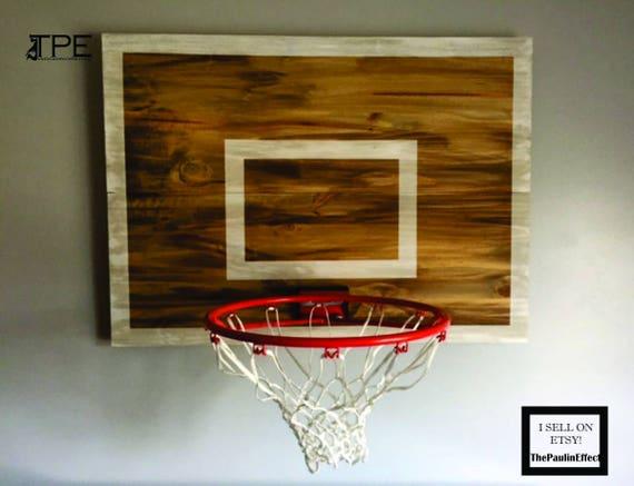 Relatively Wood Basketball Hoop Backboard Farmhouse Style Rim Wall TO29