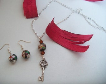 set Necklace + Earring silver