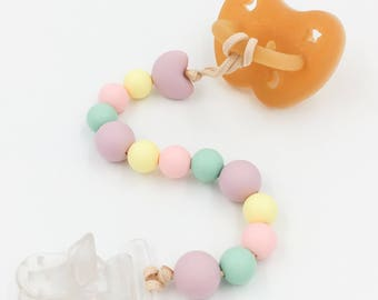 Rainbow - pearls without BPA - a food grade silicone teething pacifier star in my cabin