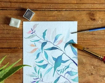 Calming Plant Painting