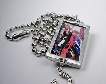 Custom Horse Photo Charm, Pendant, Key Chain, Personalized, Custom Order, Horse Lover, Pony, Horse, Red Hats Purple Chaps, FREE US Shipping