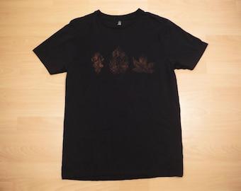 Three Leaf T-Shirt 100% Organic Cotton Fair Trade Bleach Dyed Hand Dyed Climate Neutral