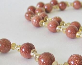 Sandstone citrine necklace