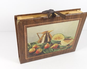Vintage Expanding Recipe File with Recipes - Recipe Holder 1970s Recipes Cook Chef Gift