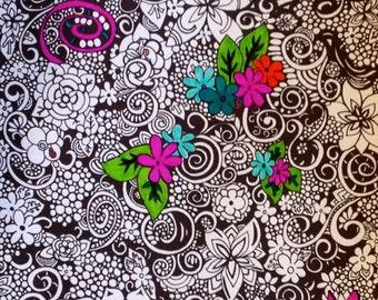 Kids Activity Printable Coloring Page Instant pdf Digital Download Original Art