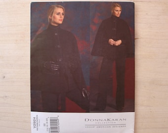 UNCUT Vogue patterns V2924 Misses' cape belt and pants Donna Karan design