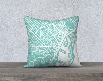 Barcelona Map Pillow Cover