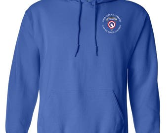 1st Sustainment Command-COSCOM (Airborne) Embroidered Hooded Sweatshirt-7611