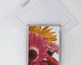 Acrylic Magnet - photo - gerberas, flowers, colourful