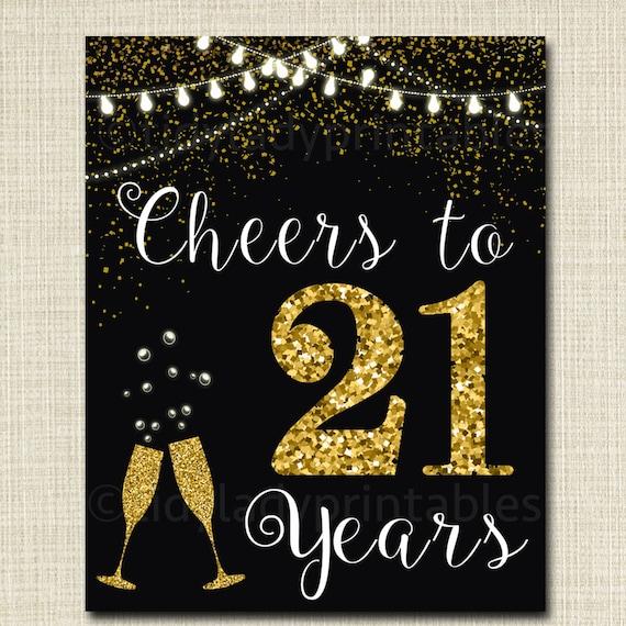 Cheers to TwentyOne Years Cheers to 21 Years 21st Birthday