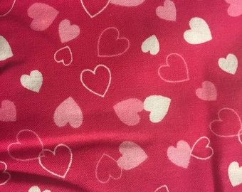 3 yards-Valentines Collection Hearts Fuchia