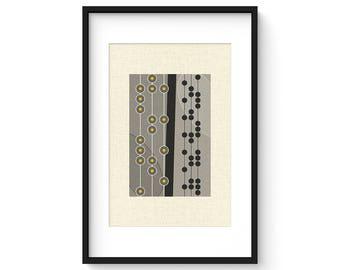 PERLE GIALLO - Giclee Print - Mid Century Modern Danish Modern Minimalist Cubist Modernist Eames Abstract