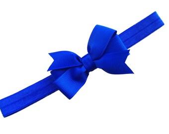 Blue baby headband - baby headbands, baby headband bows, baby girl headbands, newborn headbands, baby bows, baby headband, hair bows, bows