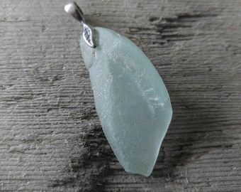 Light Blue Sea Glass Pendant from Maryland's Eastern Shore
