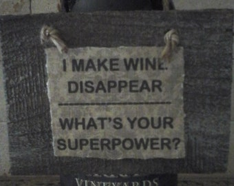 Rustic Wine Sign