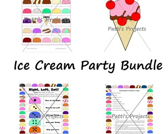Ice Cream Party Games Bundle - Digital Download