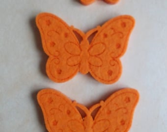 set of 3 butterflies felt glue or sew