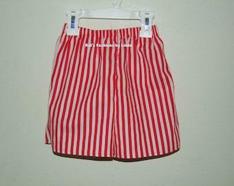 Red/White Stripe Shorts