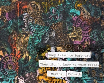 Mexican Proverb Canvas