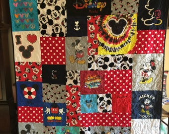 T Shirt Puzzle Design Quilt Memory Quilt Custom Order Quilt You Pick Size - Using Your Shirts - DEPOSIT ONLY