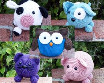 Crochet Patterns -- Roly Poly Pattern Pack -- Crochet Patterns