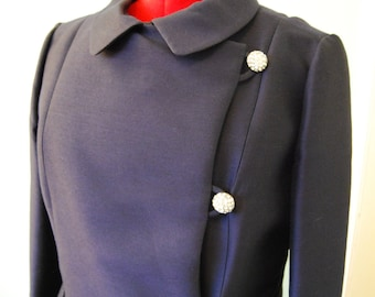 Vintage Tailored Sheath Dress & Jacket Set