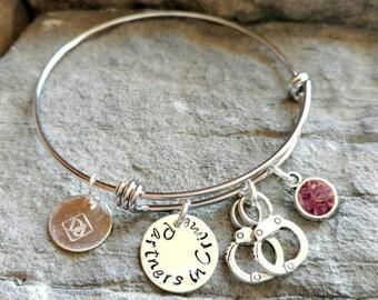Friendship Bracelet - Best Friend Bracelet - Partners in Crime bracelet - Sisters Bracelet - Best Friend Gift - Sisters Gift - Jewelry