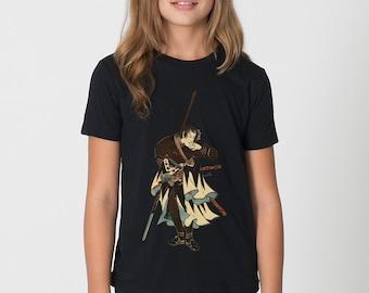 KillerBeeMoto: Ebiya Rinnosuke Samurai With Spear And Tea Cup Short & Long Sleeve T-Shirt