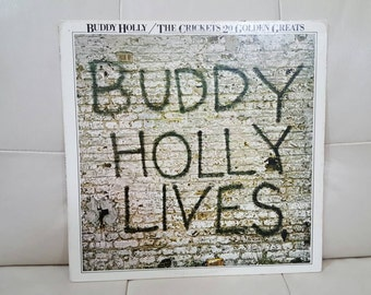 "Buddy Holly / The Crickets- 20 Golden Greats ""Buddy Holly Lives"" vinyl record"