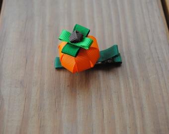 3-D Pumpkin Hair Clip