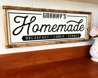 Personalized homemade kitchen sign