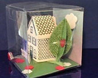 Miniature Gift Box New Home with Greeting Card Set