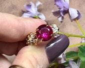 Ruby, Lab Grown Fuchsia R...