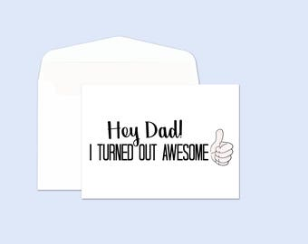 Printable Fathers Day Card - Funny Father's Day Card - Printable Card For Dad - Printable Dad Card - Funny Birthday Card for Dad