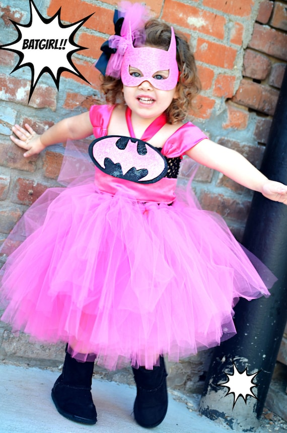 Items similar to Batman girls Superhero Costume-Tutu Dress- batman costume-Black -Pink-Girly- Birthday  Halloween Costume  Photo Prop/Batman u0026 Robin-Twins ...  sc 1 st  Etsy : batman and robin girl costumes  - Germanpascual.Com