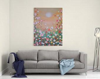 18mm Peaceful Embrace Print, Nature Lover Print, Petal Print,  Flower Canvas, Home Decor, Box Canvas, Wall Art