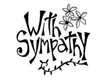 Sympathy card Blank Inside
