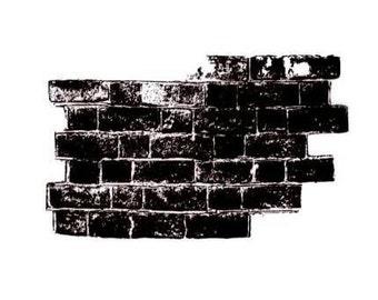 Brick Wall Unmounted rubber stamp, urban, grunge, collage element, Sweet Grass Stamps No.15