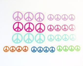 DIY Vinyl Peace Signs You Pick the Colors