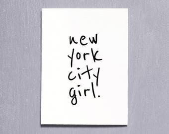 United States, New York, Printable Art, Typography Print, Instant Download, Wall Art, Travel Poster, Contemporary Art