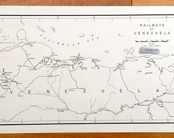 Antique Bolivia 1945 Road Map Formerly Confidential US