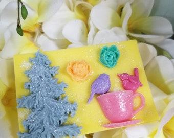 Sprintime Sun & Sand Darker Yellow Handmade Soap 4 oz wt