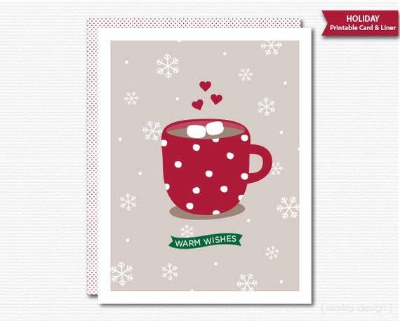 Christmas greeting card printable digital holiday greeting m4hsunfo