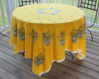 70 Inch French Lavender Fabric Tablecloth Panel Ready To Be Hemmed Or  Quilted, Square