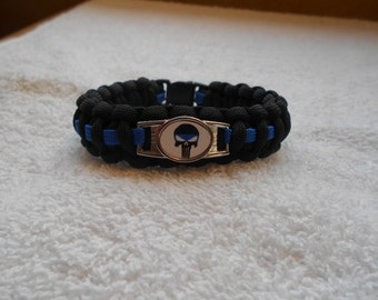 The Punisher Series - Charm # 7 - Paracord Bracelet - Hand Made