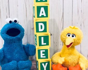Sesame Street Blocks  / Sesame Street birthday decorations / Sesame Street birthday party / paper  blocks /sesame street centerpieces