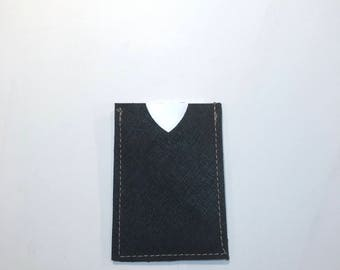 LEATHER BUSINESS CARD case, leather card case, business card holder, metro card holder